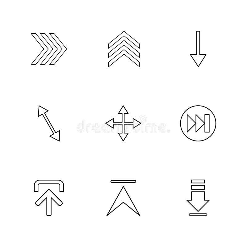 upload, w górę, ściąganie, puszek, strzała, kierunki, lewi, righ ilustracja wektor
