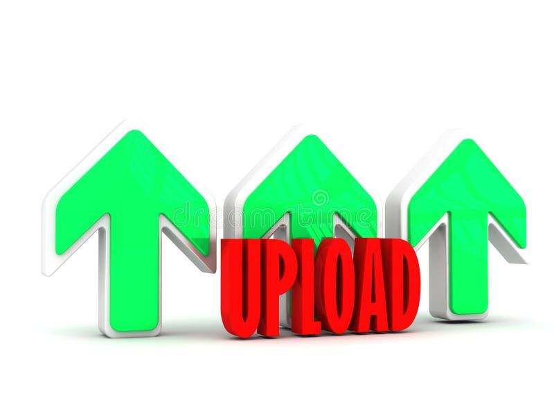 Download Uploading Data files stock illustration. Image of upload - 33448893