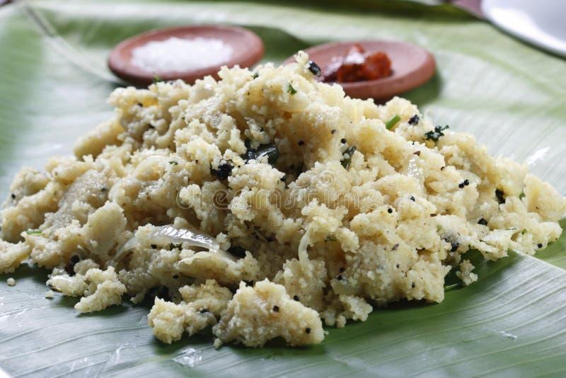 Upma é um prato indiano foto de stock