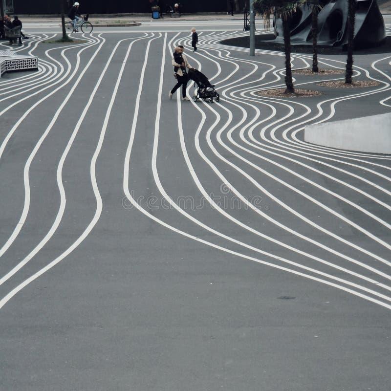 Upodabnia parka, nowożytnego i landart parka w Kopenhaga, zdjęcie stock