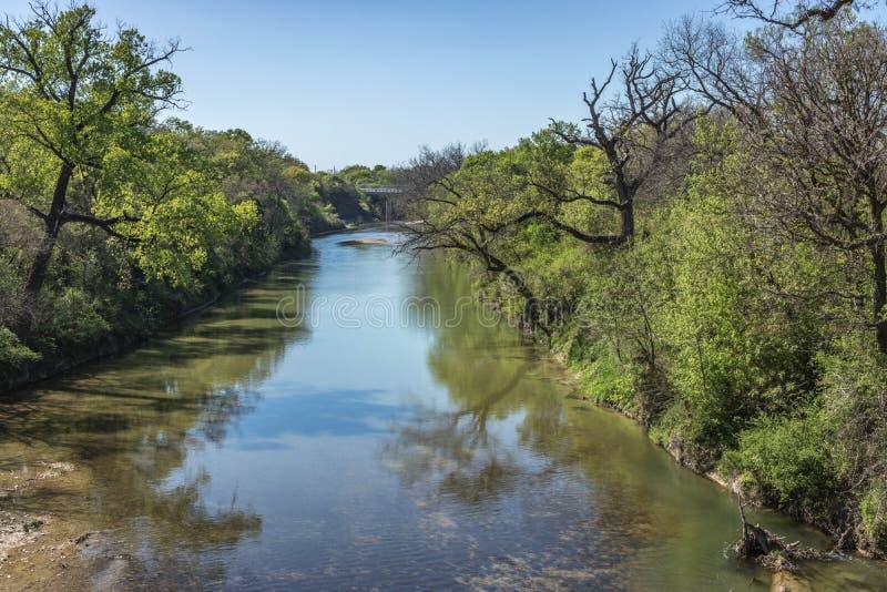 Upp den Lampasas floden fotografering för bildbyråer