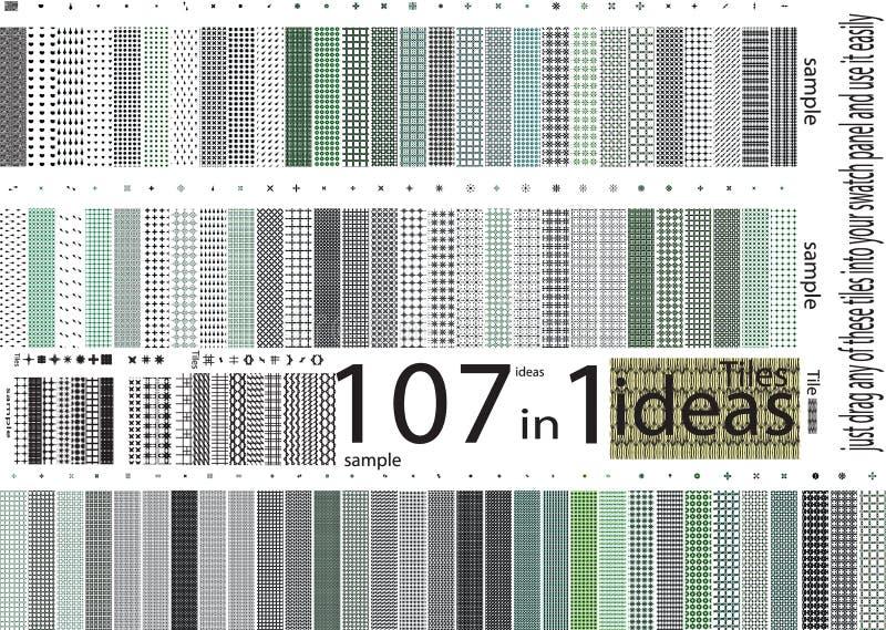 Upp till hundra olika sömlösa modellslut för universal stock illustrationer