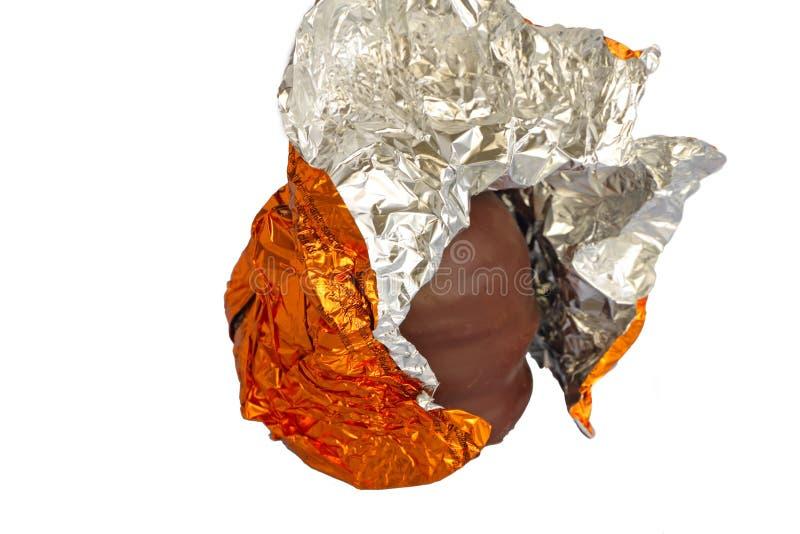 uppackad half kyss för chokladskum royaltyfri foto