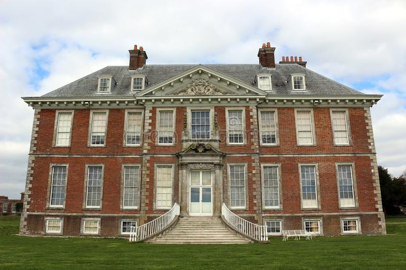 Uppark House. In West Sussex, England, is a grade I listed building built in the 17th century stock photos