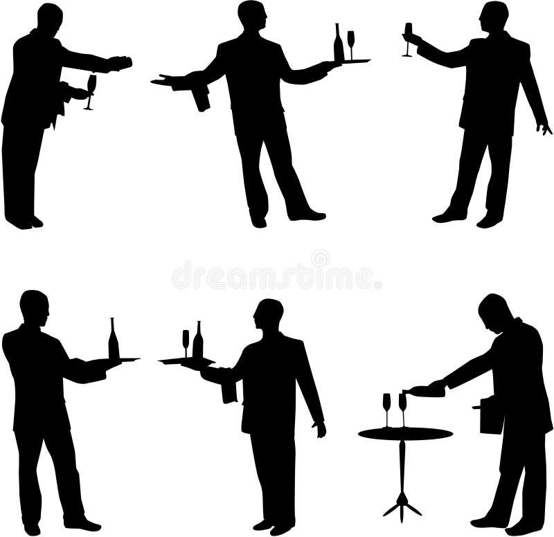 uppassare vektor illustrationer