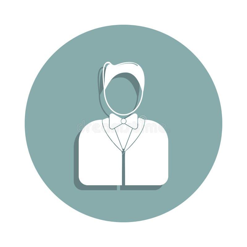 uppassare- \ 's-avatarsymbol i emblemstil En av Avatarssamlingssymbolen kan användas för UI, UX royaltyfri illustrationer