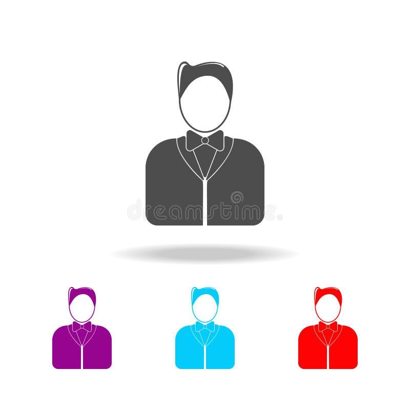 uppassare- \ 's-avatarsymboler Beståndsdelar av avatars i mång- kulöra symboler Högvärdig kvalitets- symbol för grafisk design En vektor illustrationer