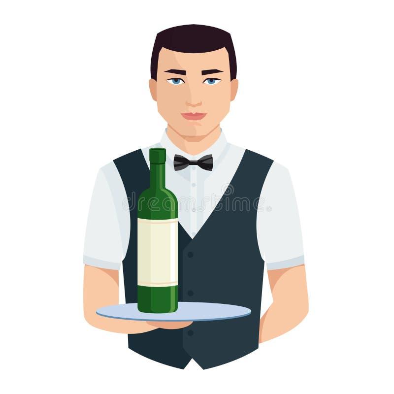 uppassare Sköta om personalen Restauranglag stock illustrationer