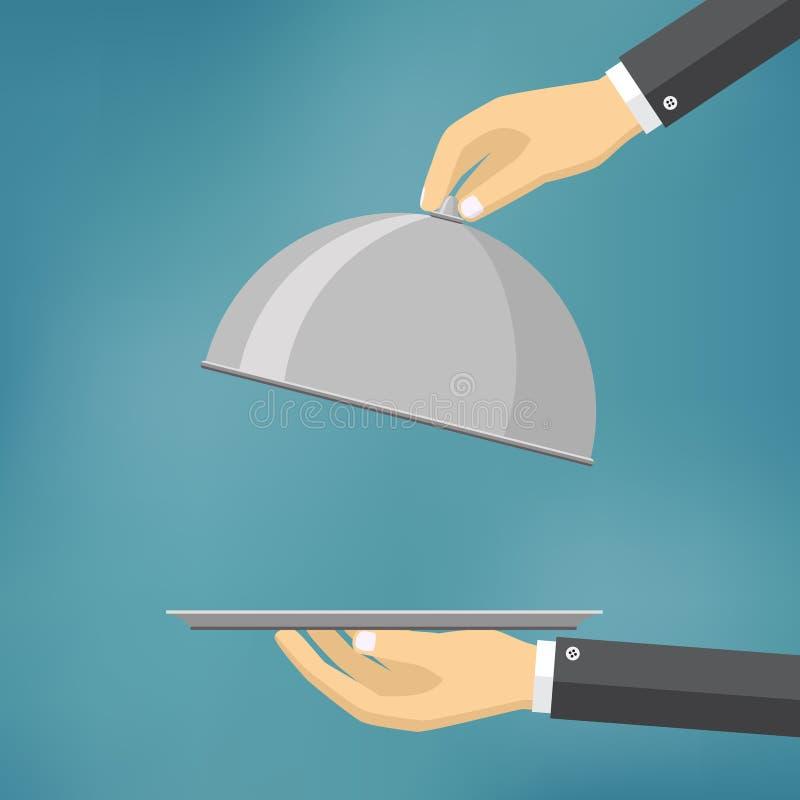 Uppassare som rymmer en sticklingshus vektor illustrationer