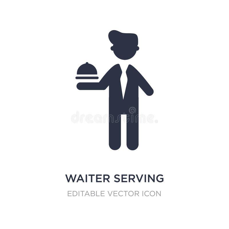 uppassare som tjänar som en drink på en magasinsymbol på vit bakgrund Enkel beståndsdelillustration från folkbegrepp royaltyfri illustrationer