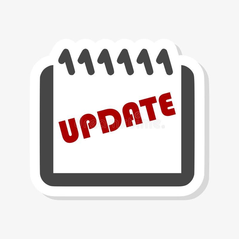 Uppdatering uppdateringprogramvaruklistermärke stock illustrationer