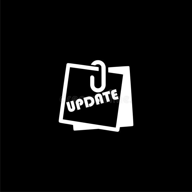 Uppdatering-, uppdateringprogramvarusymbol eller logo på mörk bakgrund vektor illustrationer