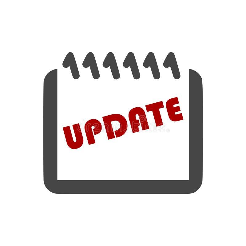 Uppdatering uppdateringprogramvarusymbol, enkel vektorsymbol stock illustrationer