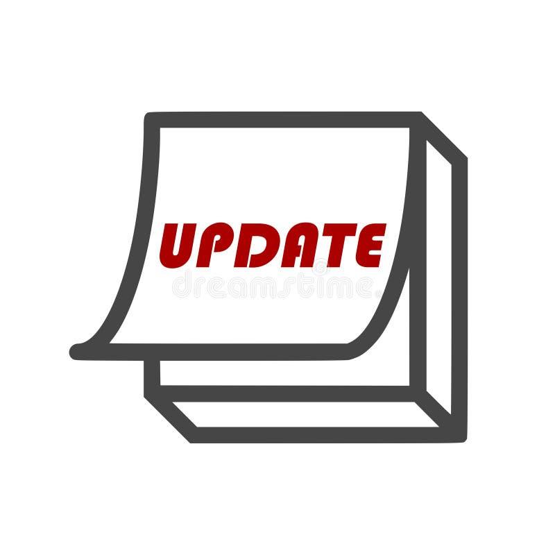 Uppdatering uppdateringprogramvarusymbol, enkel vektorsymbol royaltyfri illustrationer