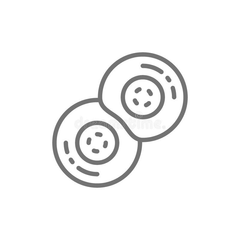 Uppdelning av mänskliga celler, foster- utvecklingslinje symbol vektor illustrationer