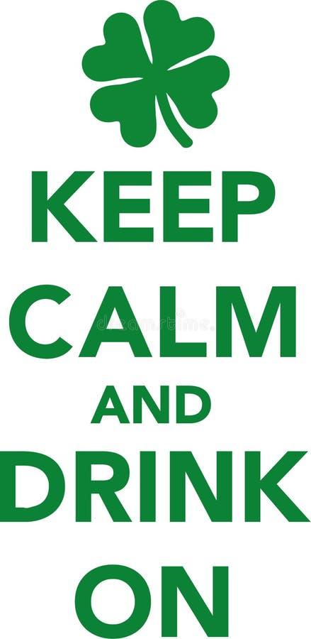 Uppehällestillhet och drink på kryddnejlikan stock illustrationer