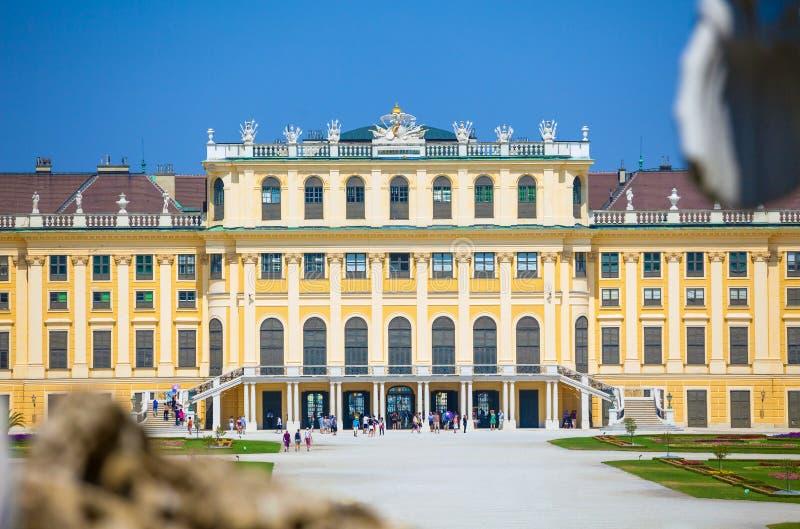 Uppehåll för Schonbrunn slottkunglig person arkivbild