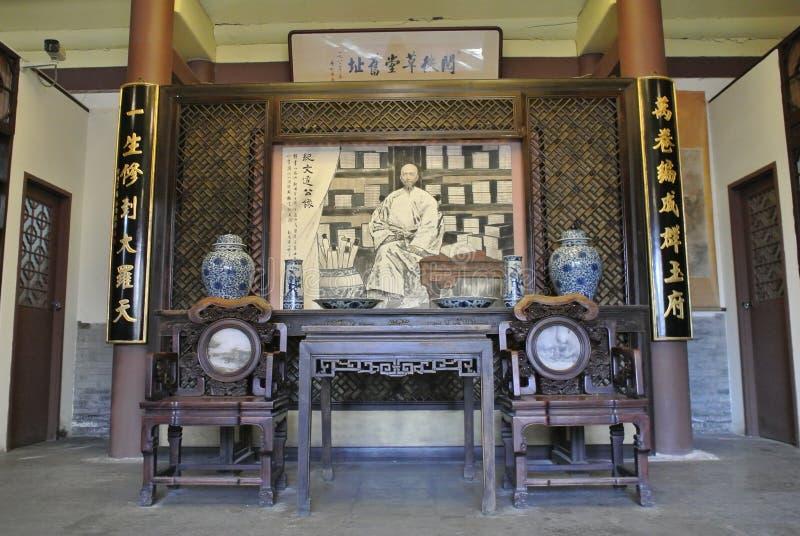 Uppehållet av en representant i Qing Dynasy royaltyfri foto