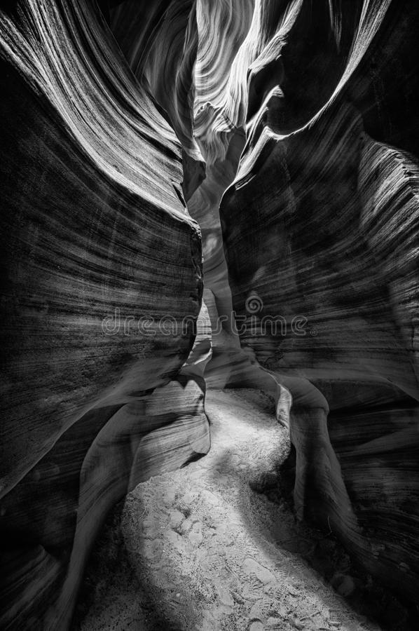 Upper Antelope (Slot) Canyon (black & white) royalty free stock images