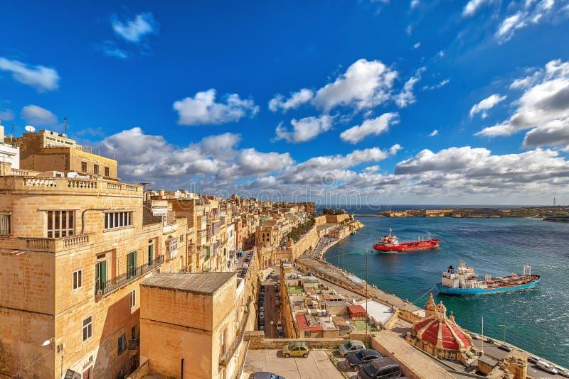 Upper Barrakka Gardens. Beautiful Upper Barrakka Gardens in Valletta city, Malta, Europe royalty free stock photo