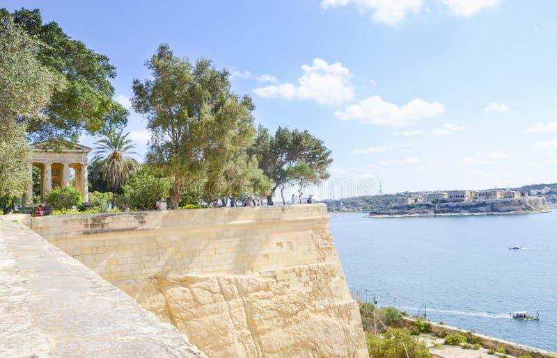 Upper Barrakka Gardens, Valletta, Malta. On a sunny summer day stock photography