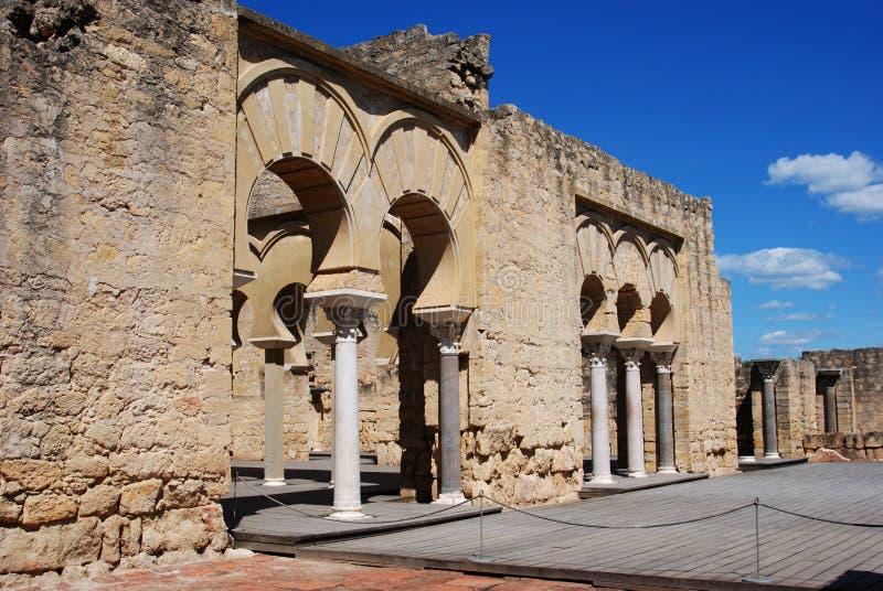 Upper Basilica, Medina Azahara. royalty free stock images