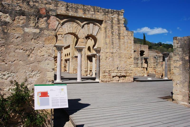 Upper Basilica, Medina Azahara. stock photo