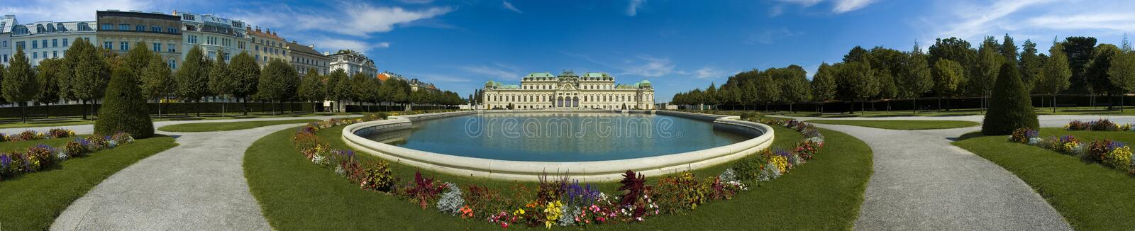Upper Belvedere Palace. Former main summer residence of Prince Eugene, finished in 1723 royalty free stock images