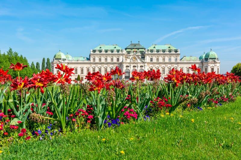 Upper Belvedere palace and gardens, Vienna, Austria stock image