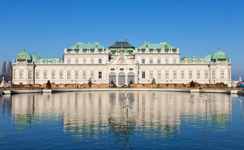 Upper Belvedere Palace, Vienna, Austria stock images