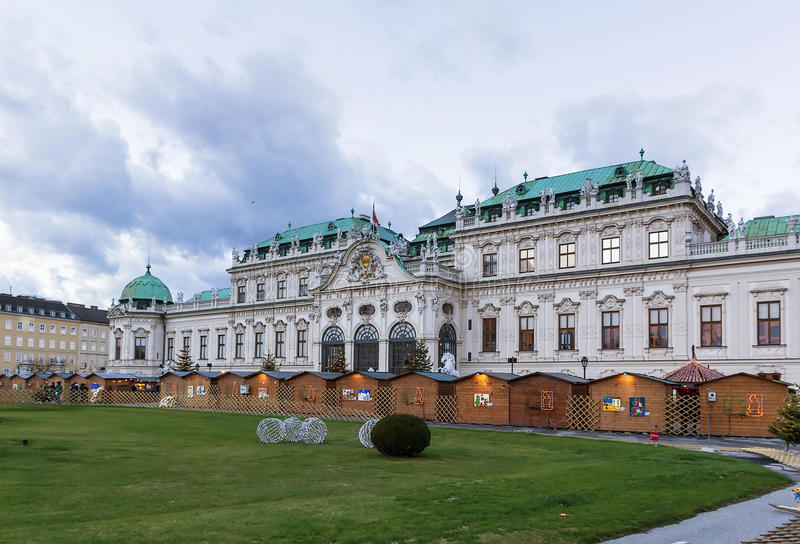 Upper Belvedere palace. Vienna. Upper Belvedere Palace was built in 1723, and is one of the most beautiful baroque palaces in Europe stock image