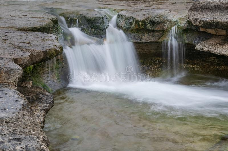 Upper Bull Creek Greenbelt and Waterfalls, Austin stock photography