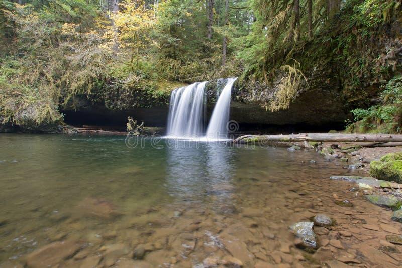 Upper Butte Falls in Oregon stock image