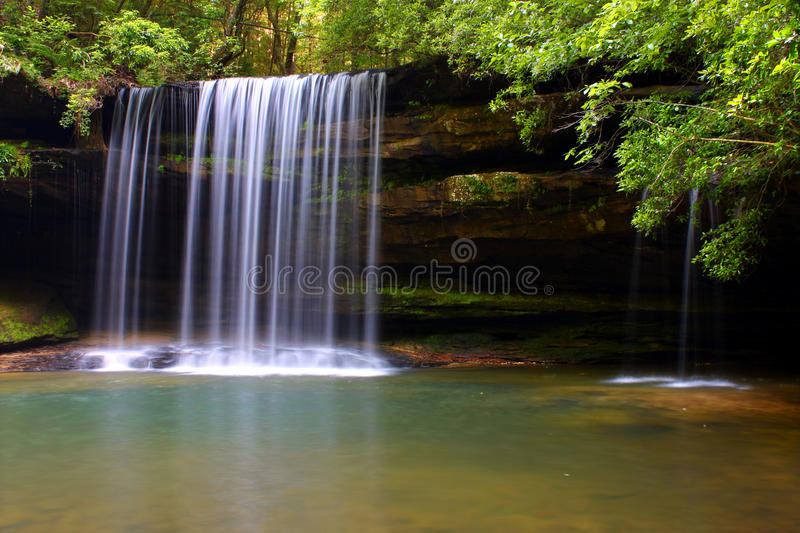 Upper Caney Creek Falls in Alabama royalty free stock photos