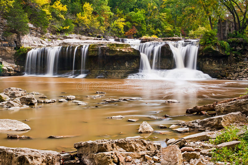 Upper Cataract Falls, Indiana Royalty Free Stock Photography