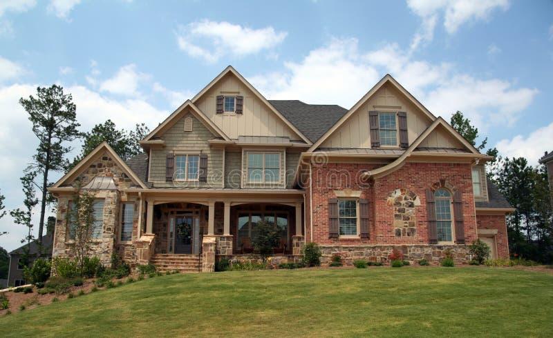 Upper class luxury home stock image