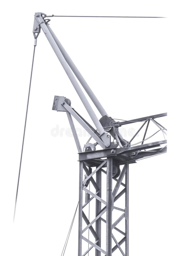 Upper crane details in isolated on white backgro royalty free stock photography