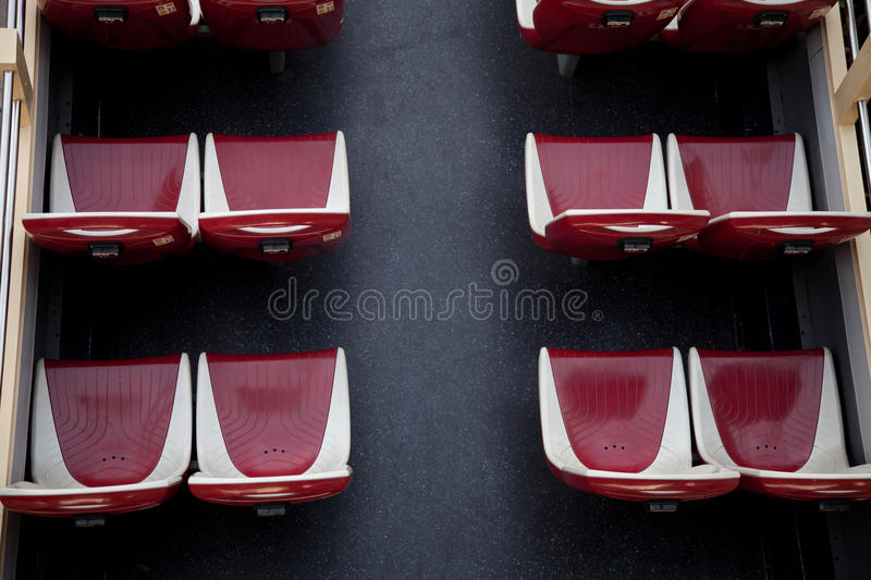 Upper deck double decker bus. For sightseeing royalty free stock image
