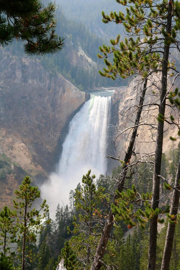 The Upper Falls in the Grand Canyon of the Yellowstone stock photography