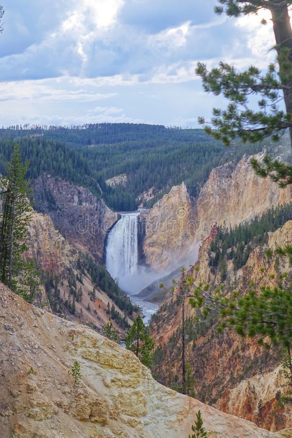 Upper Falls - Yellowstone Canyon WY stock images