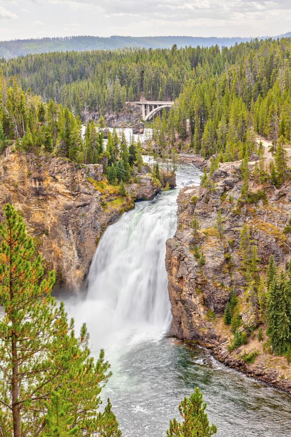 Upper Falls in Yellowstone National Park, Wyoming, USA stock image