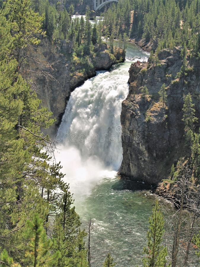 Upper Falls of the Yellowstone River stock photo