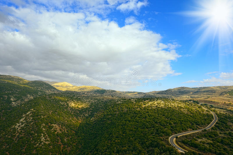 Upper Galilee mountains. North Israel. stock images