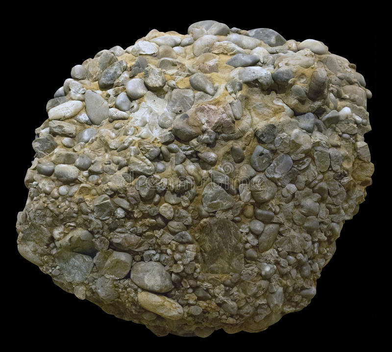 Upper Jurassic siliceous conglomerate royalty free stock images