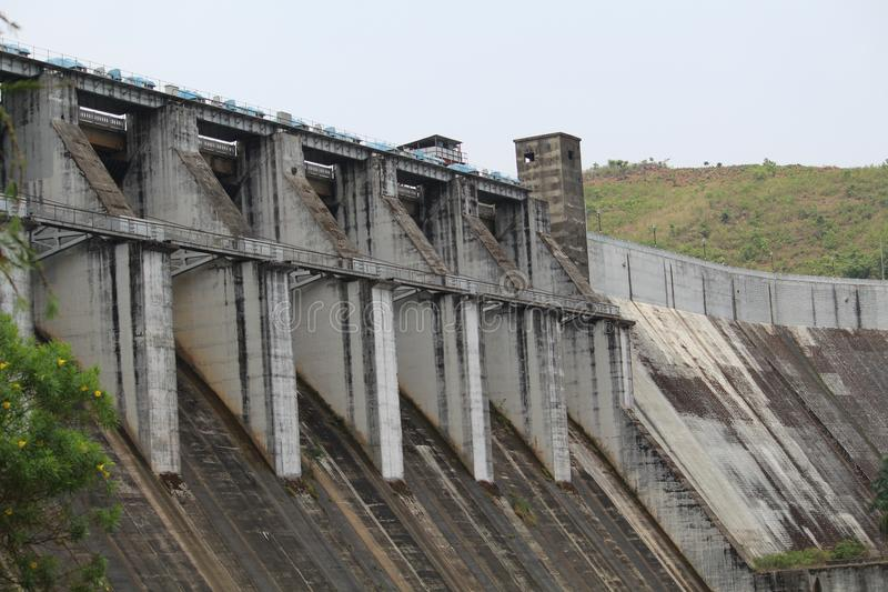 Upper Kolab Front View. Picture of Upper kolab dam with front view royalty free stock photos