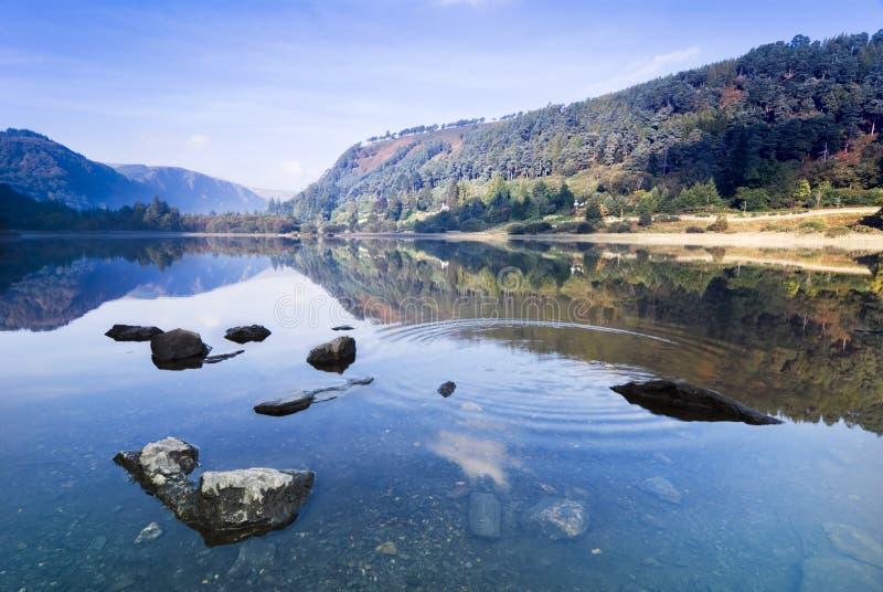 Upper Lake in Glendalough stock images