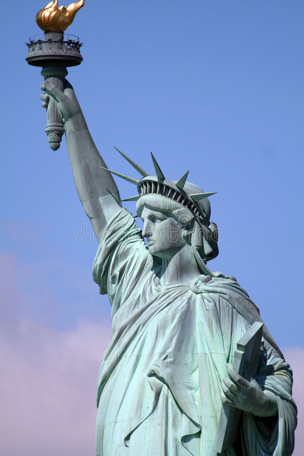 Download Upper liberty statue stock image. Image of island, united - 800707