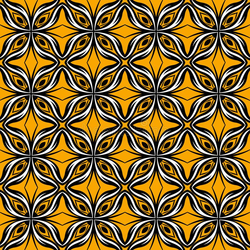 Upper and lower symmetry patterns royalty free illustration
