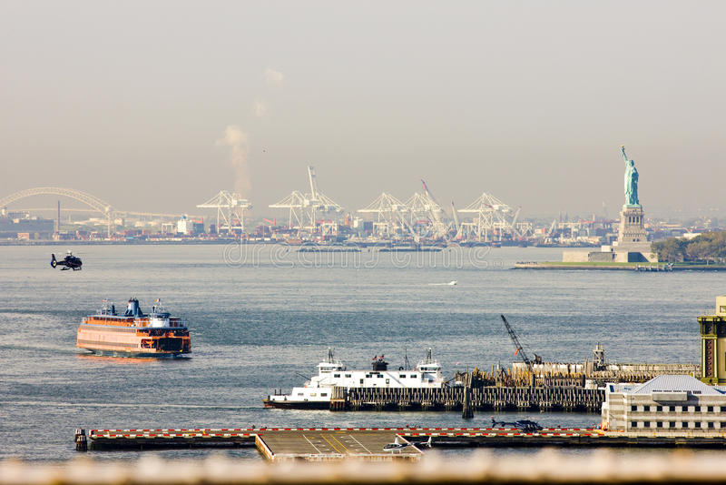 Upper New York Bay royalty free stock photos