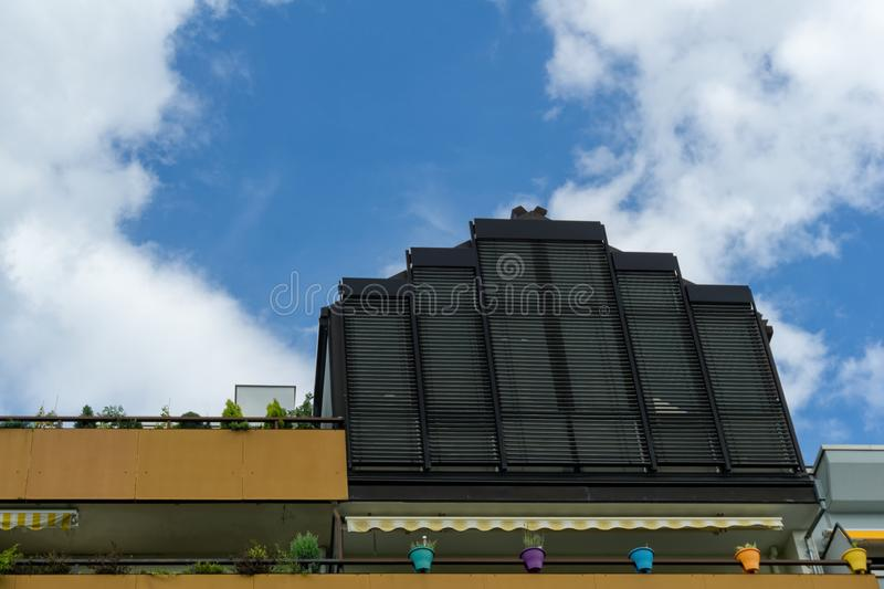 The upper part of a building. In Germany stock photo